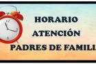 HORARIO DE ATENCION A PPFF